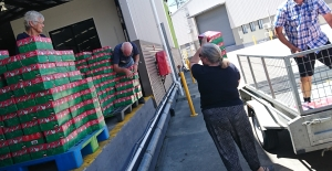OCC shoeboxes arrive at processing